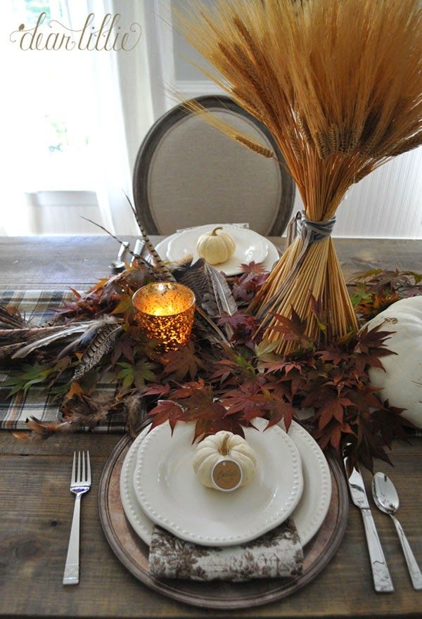 Dear Lillie: A Simple Thanksgiving Table Setting | Fall | Pinterest ...