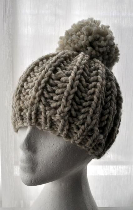 New hat knitted patterns bobble 34+ Ideas #hat | Knitted ...