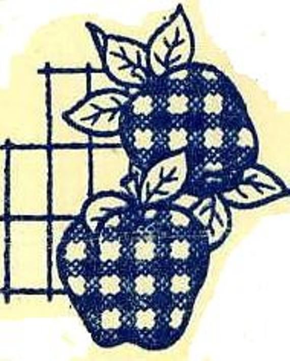 Vintage Embroidery Transfer repo 573 Cross Stitch Fruit for Kitchen Dish Towels