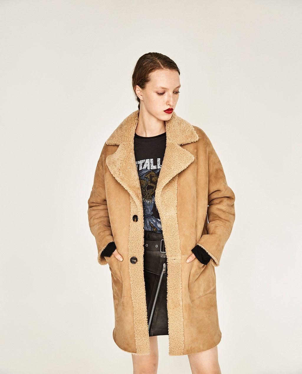 Piel Abrigos Studio Reversible 48pt4wbrq Zara Abrigo México Mujer TxwnAanEYq