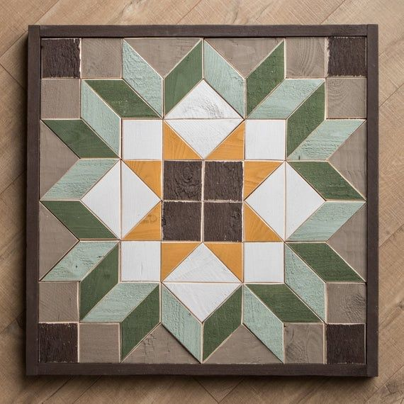 Wood Quilt Square / Reclaimed Wall Art / Handmade Quilt