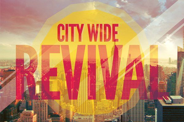 City Wide Revival Church Flyer By Loswl On Creativemarket Church
