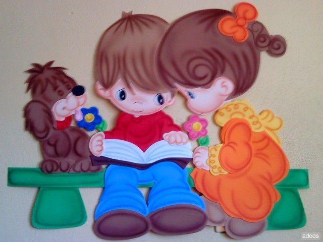 molde rincon de lectura en foami - Buscar con Google | FIGURAS DE ...