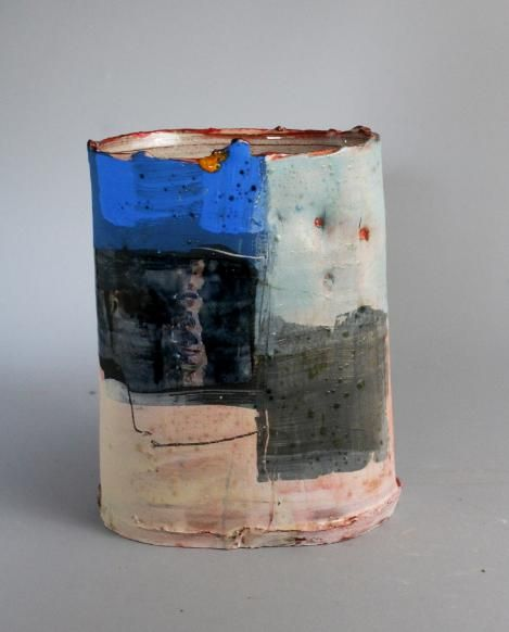 Abstract expressionism · vessel with blue barry stedman
