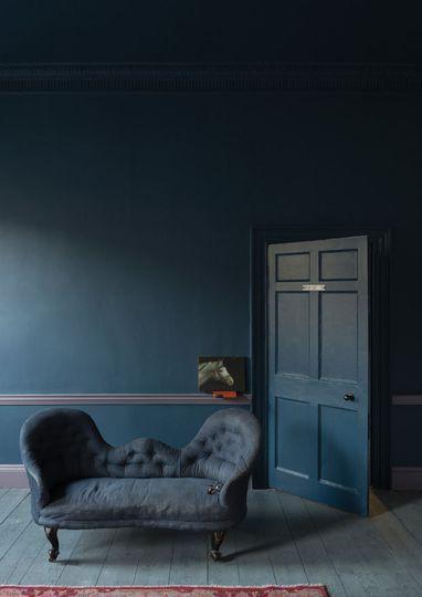 Farrow & Ball : une peinture bleu pétrole - Peinture : les nouvelles couleurs tendance - CôtéMaison.fr