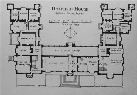 Hatfield House Plan Hertfordshire 1611 Gothic style – Hatfield House Floor Plan