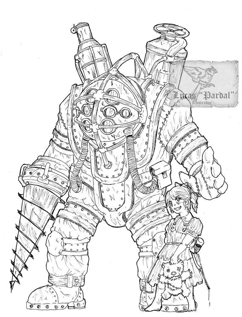 Fan Art Of Bioshock S Big Daddy And A Little Sister