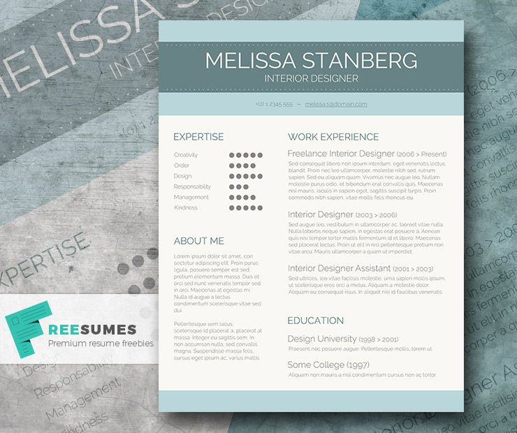 Modern Resume Templates Word Captivating Stylish Cv Template Freebie  The Modernday Candidate  Cv