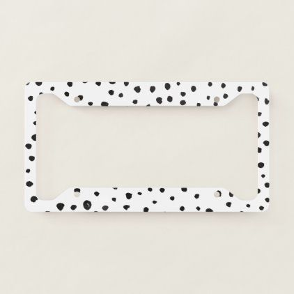 Black And White License Plate Frames & Covers   Zazzle