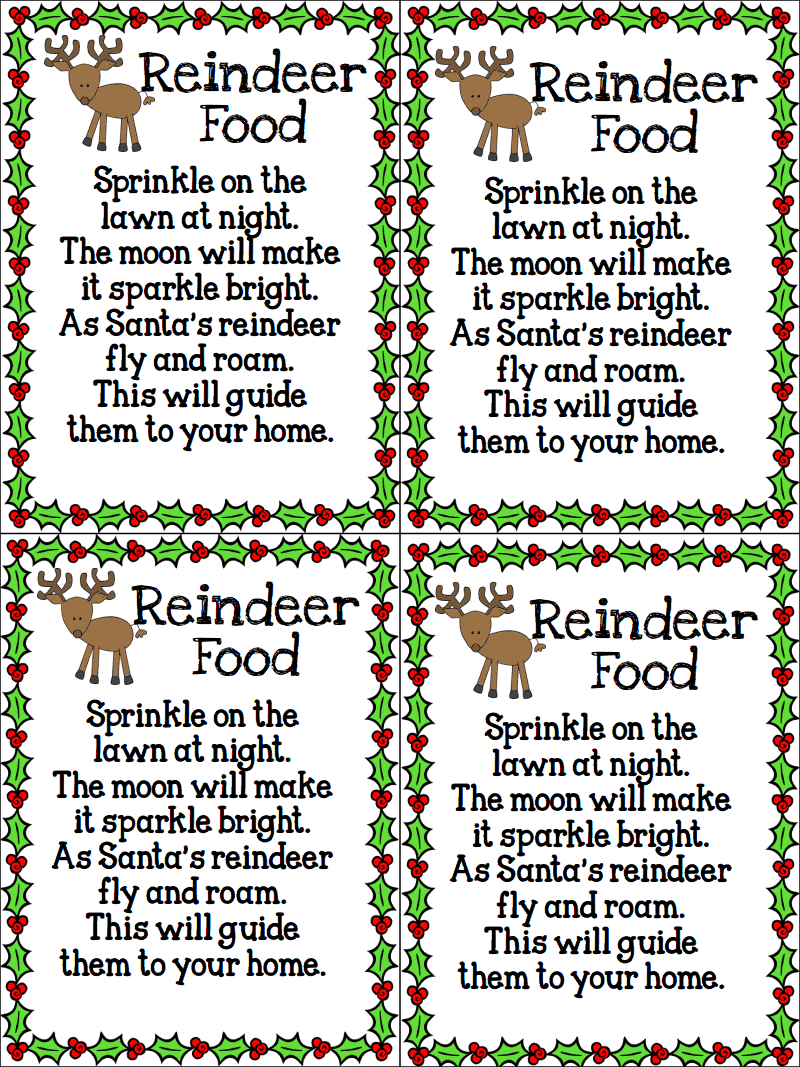 Tie With Ribbon And Our Free Printable Labels Reindeer Template