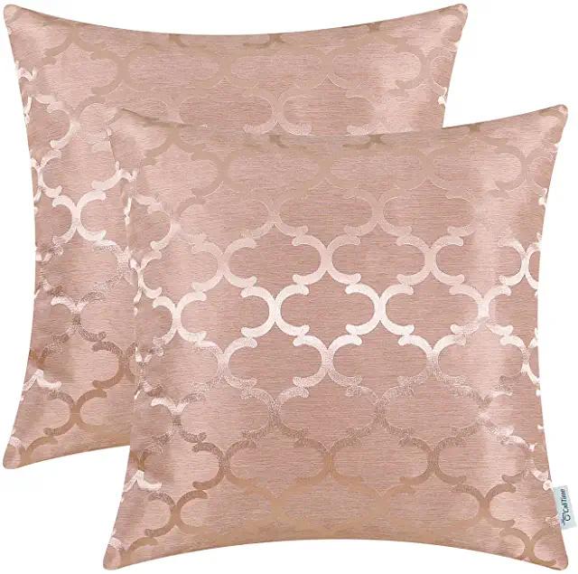 Amazon De Kissenhulle Rosa Moderne Couch Kissenhullen Kissen