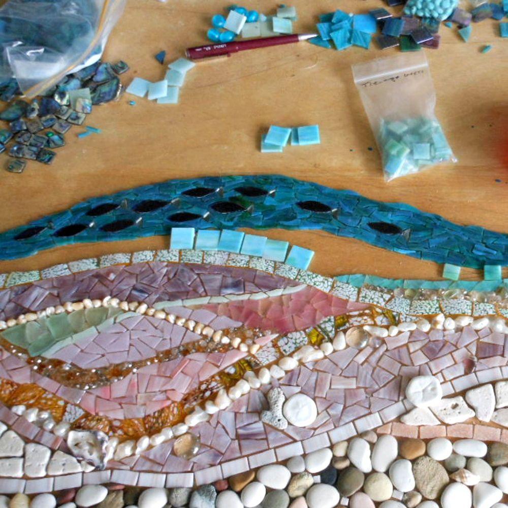 Ideen f r selbst verlegte mosaike die besten anleitungen - Einsatz in 4 wanden ideen ...