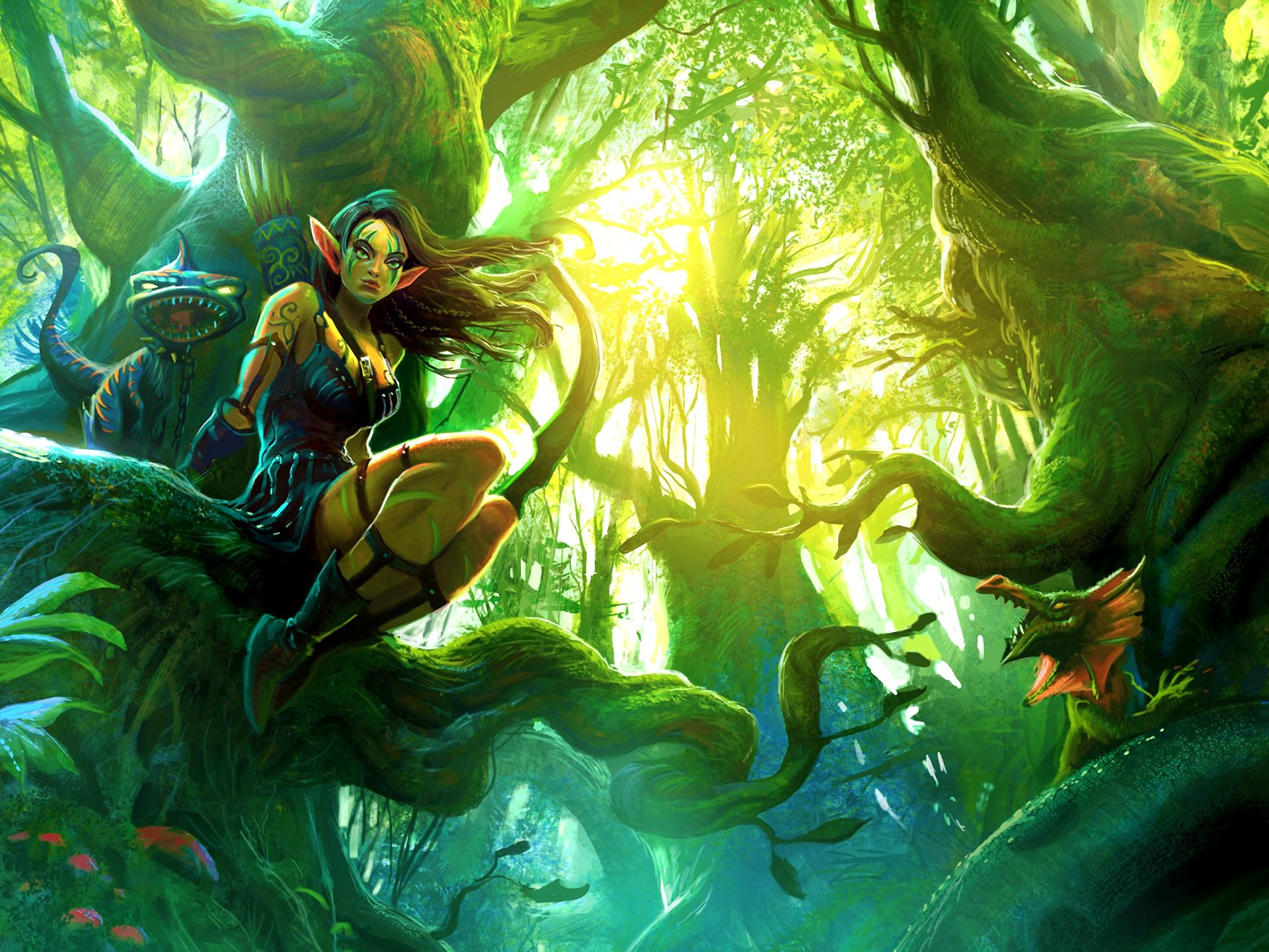 Fantasy Wallpaper Elf Elves Fantasy Elf Art Forest Elf