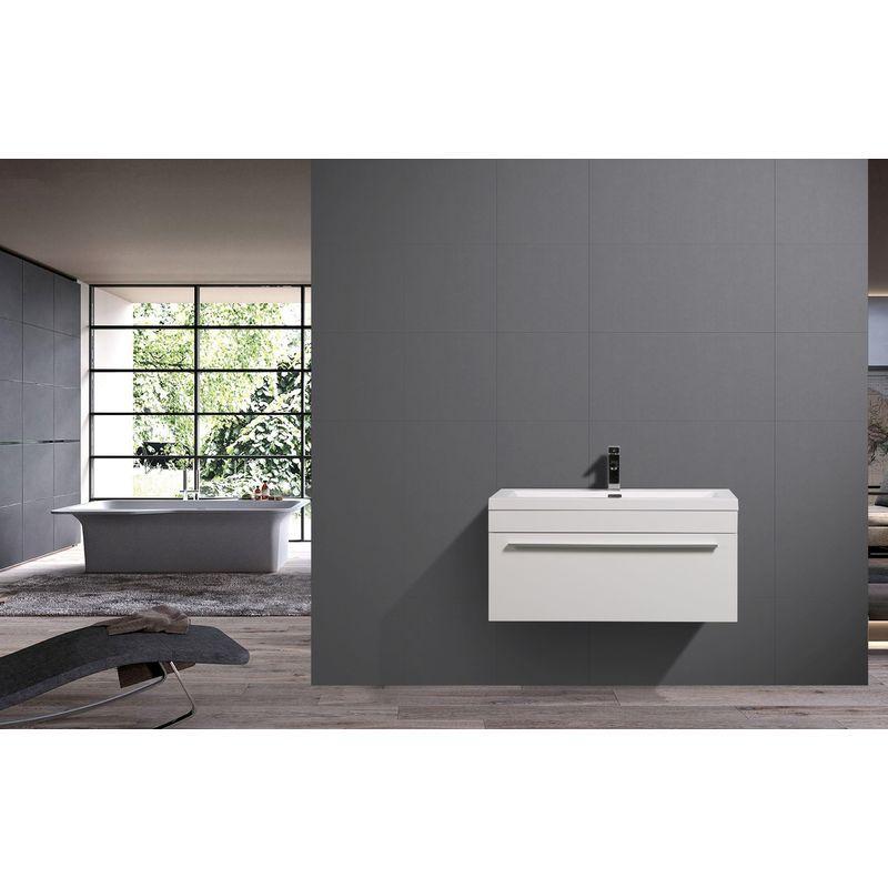 Ensemble De Salle De Bain T900 Blanc Vasque Meuble Sous Vasque Bathtub Bathroom