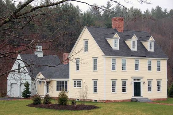 Colonial Colonial Exterior Colonial House Colonial Farmhouse