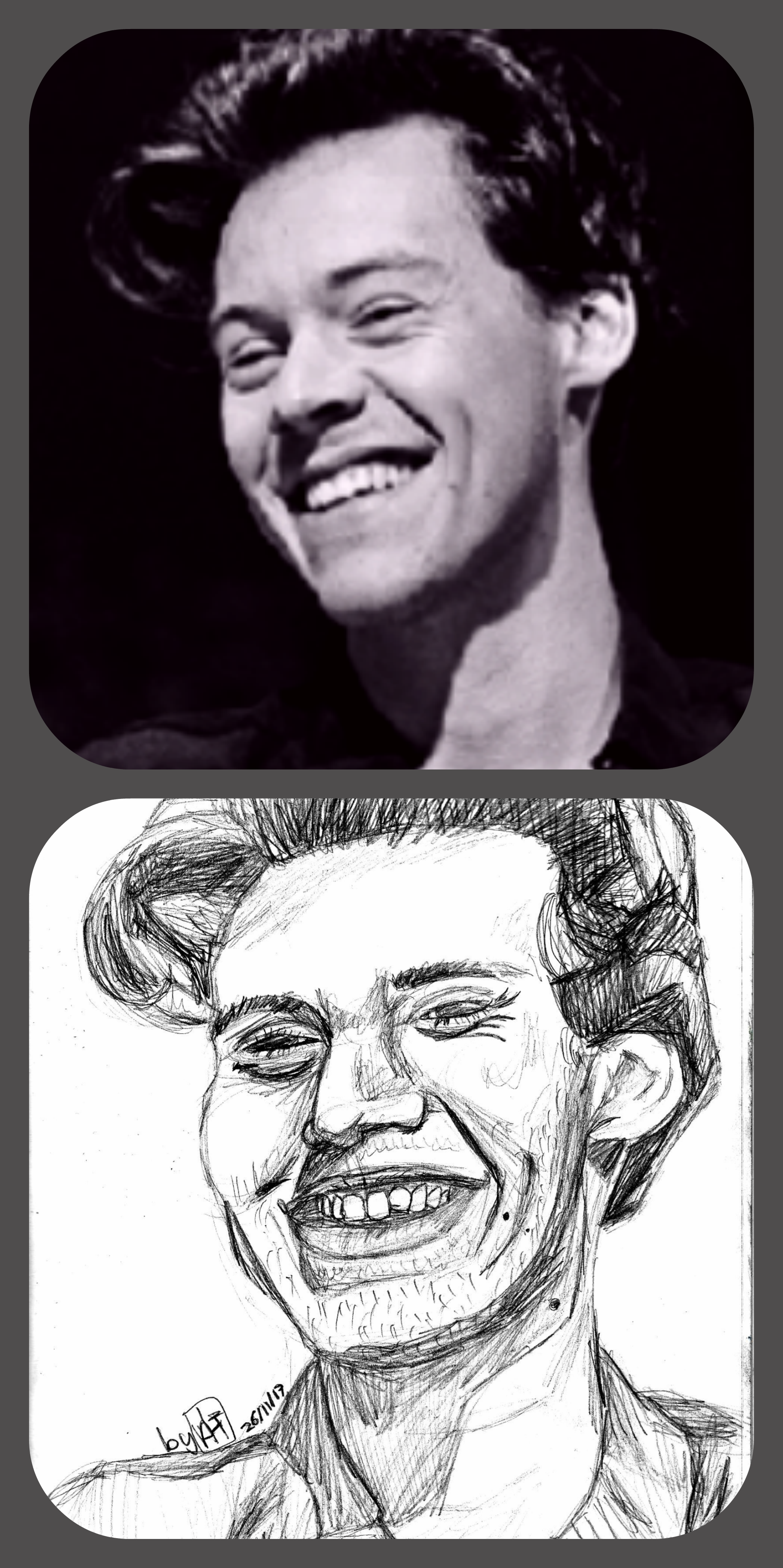 Here i have drawn harry styles i have used a mechanical pencil to draw