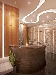 poured concrete reception desk - Google Search | Office design ...