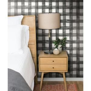 Magnolia Home 56 Sq Ft Watercolor Check Removable Wallpaper Mh1516 At The Depot Mobile