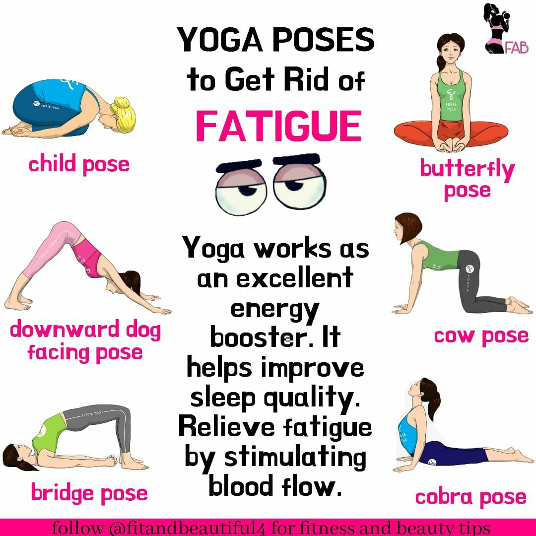 Yoga Poses To Get Rid Of Fatigue Yoga Facts Easy Yoga Workouts Yoga Works