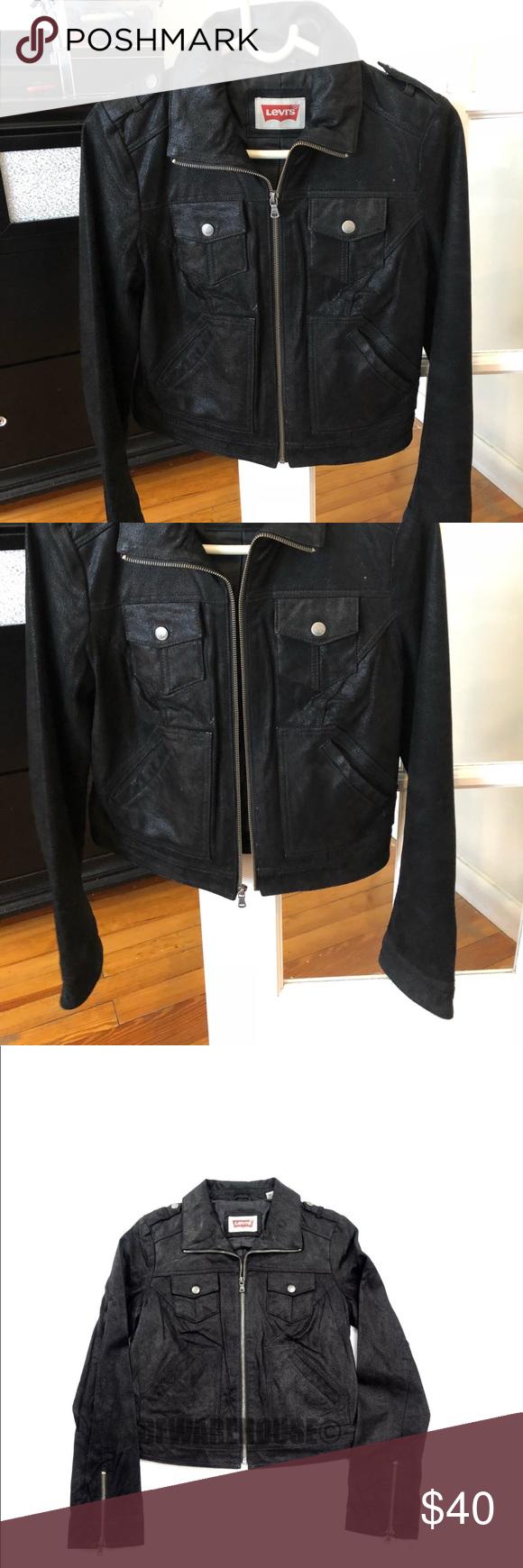 Levi's Women's leather jacket LEVI'S Womens Motorcycle
