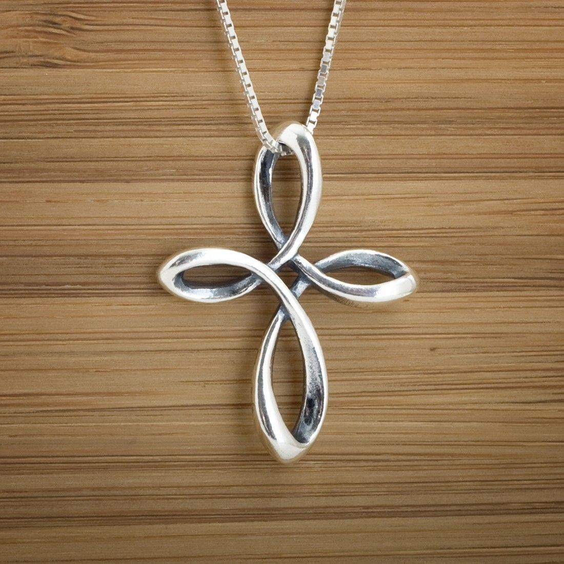 Sterling silver celtic infinity cross double sided pendant or celtic infinity cross pendant sterling by littledevildesigns 2600 aloadofball Images