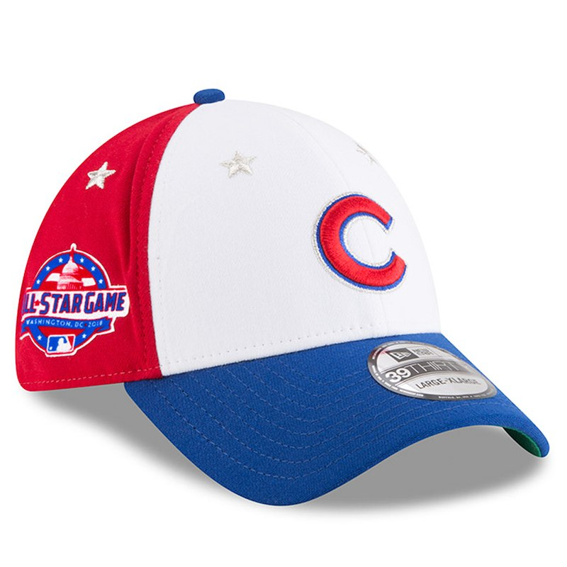 baf3cde03b27c Chicago Cubs New Era 2018 MLB All-Star Game 39THIRTY Flex Hat – White Royal