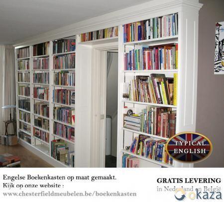 Witte boekenkast op maat gemaakt   Bookcase   Pinterest