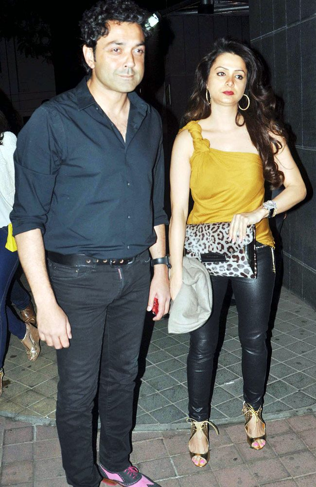 Actor Bobby Deol Arrived With His Wife For The Special Screening Of
