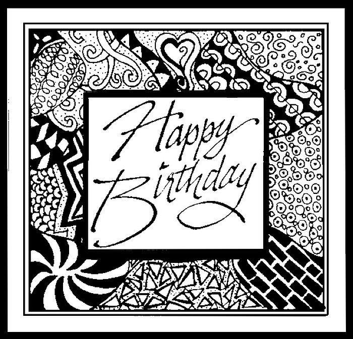 Happy Birthday!   Zentangle, Zentangle patterns, Birthday ...