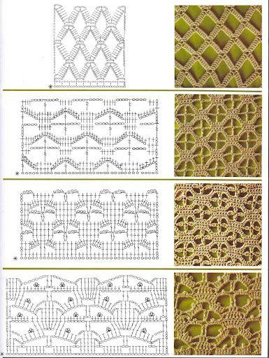 Häkelmuster häkeln Muster Openwork - crochet patterns stitches ...