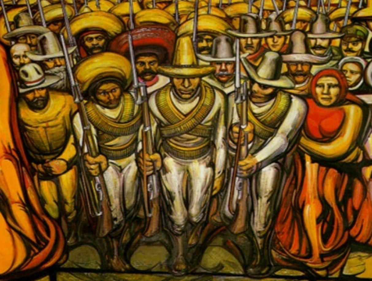 Los Revolucionarios De Siqueiros Murales Mexicanos Arte