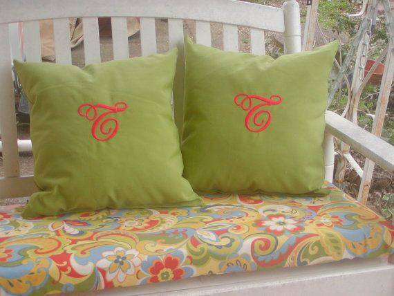 Custom Made Indoor Or Outdoor Swing Bench Seat Cushion Pillows