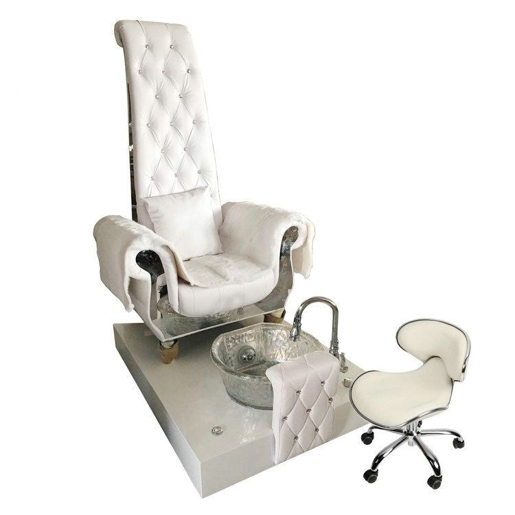 High Back Queen Throne Chair King Pedicure Station Used Nail Salon Sofa With Foot Basin Beauty Spa Equipment Hair Salo Pedicure Station Throne Chair King Chair