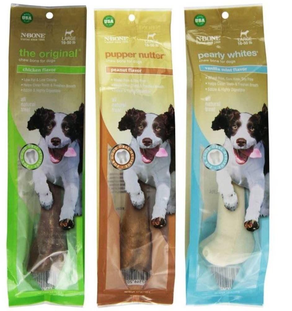 ce84678db9 N-Bone Large Size Chew Bone For Dogs 3 Flavor Variety Bundle  (1) N ...