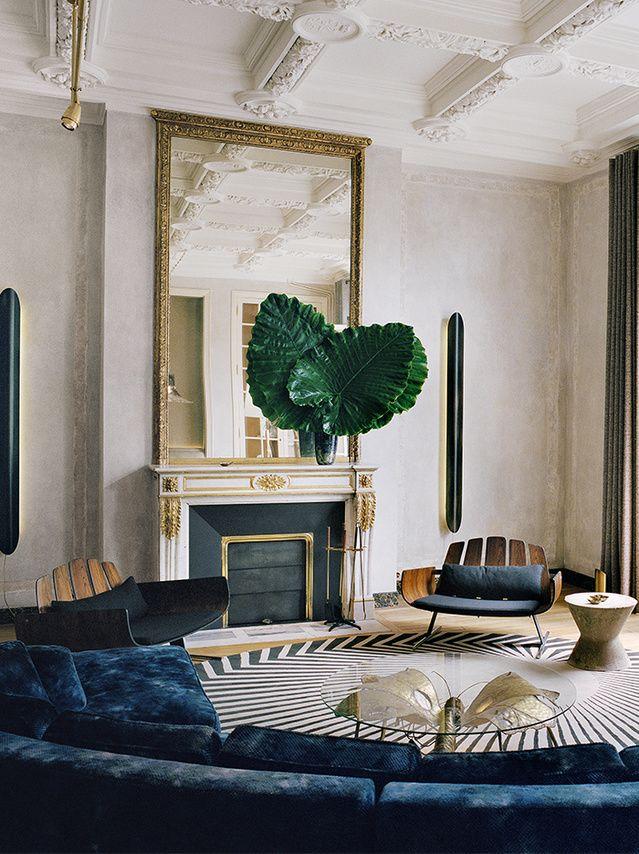 Un appartement bourgeois paris french interiors french for Deco appartement bourgeois