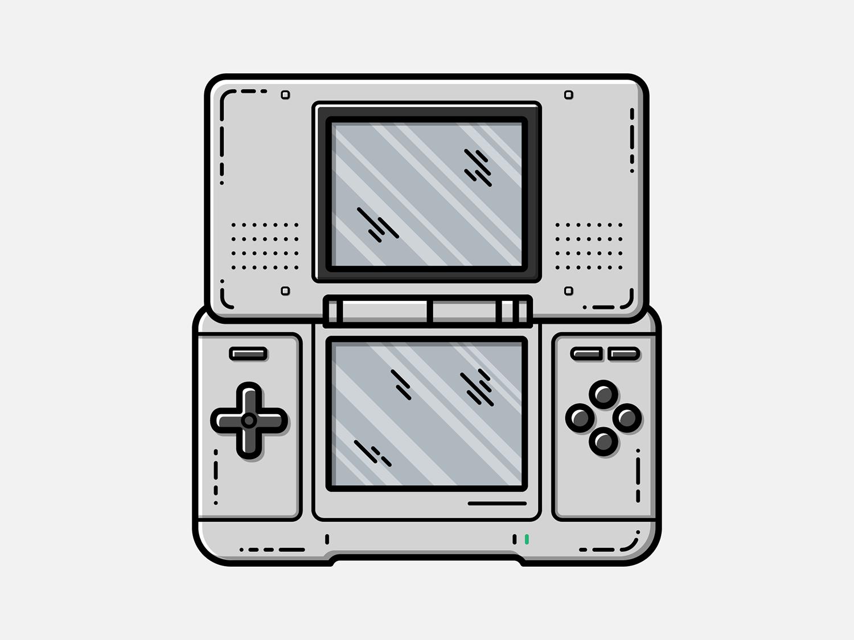 Nintendo Ds Vector Illustration Vector Illustration Nintendo Ds Illustration