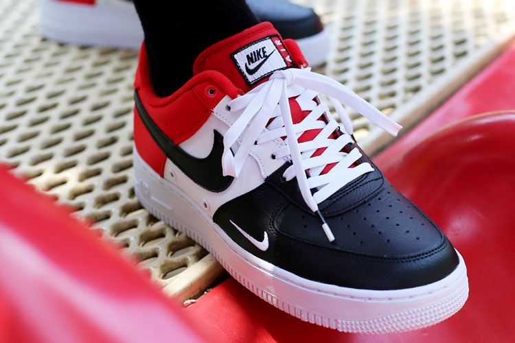 a2547a2ca83 Nike Air Force 1 Low 07 LV8 release Black Toe with high-grade leather with  foam cushioning outsole combination