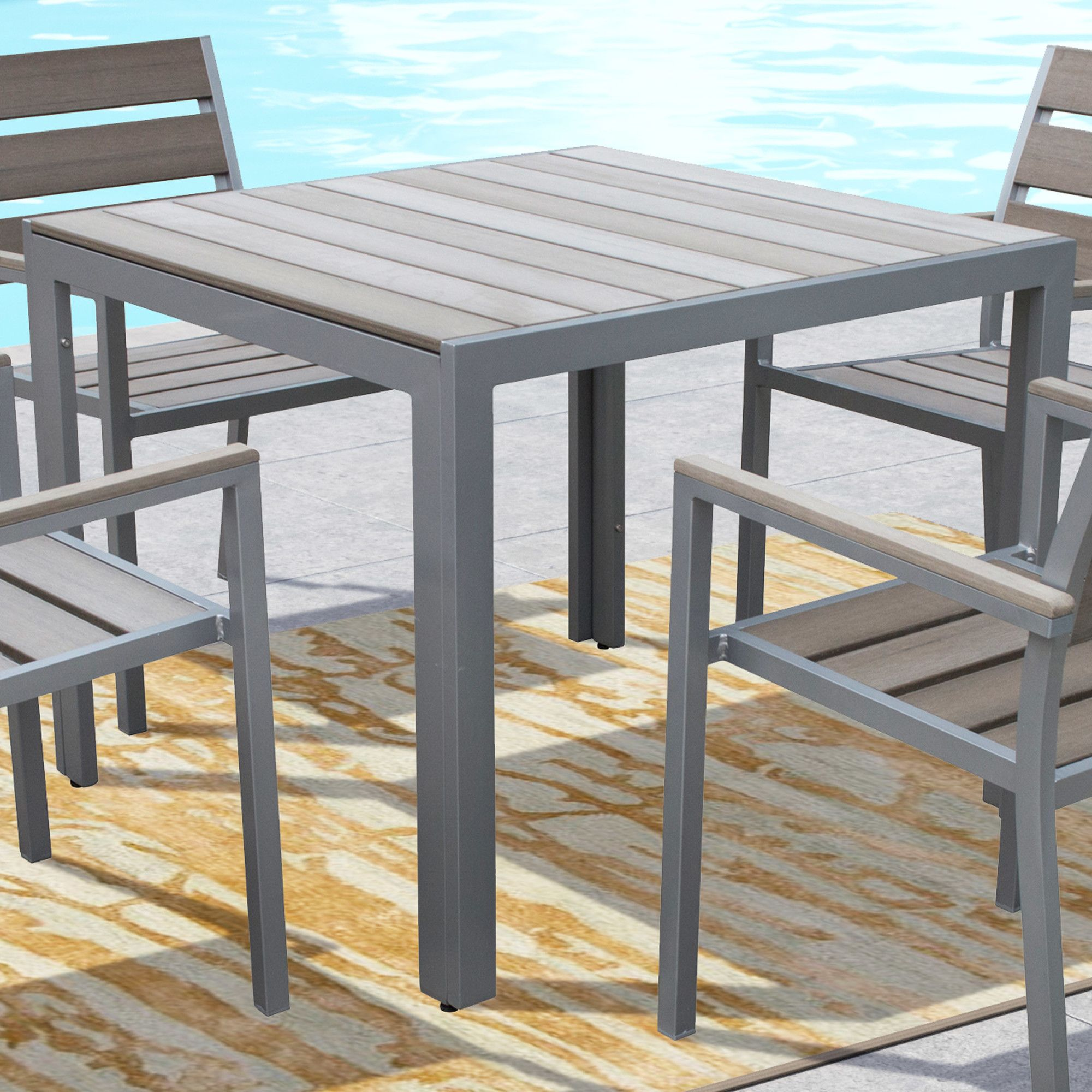 Kyree Dining Table | Outdoor dining chairs, Patio dining ... on Bade Outdoor Living id=81188