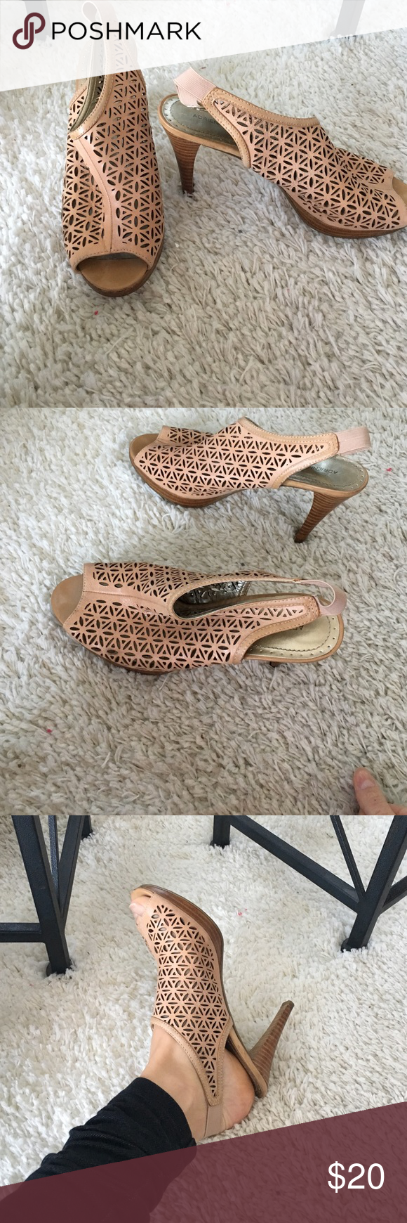 Adrienne Vittadini heels Great condition! Stretchable strap in back allows for more comfortable fit. Very comfortable! Adrienne Vittadini Shoes Heels
