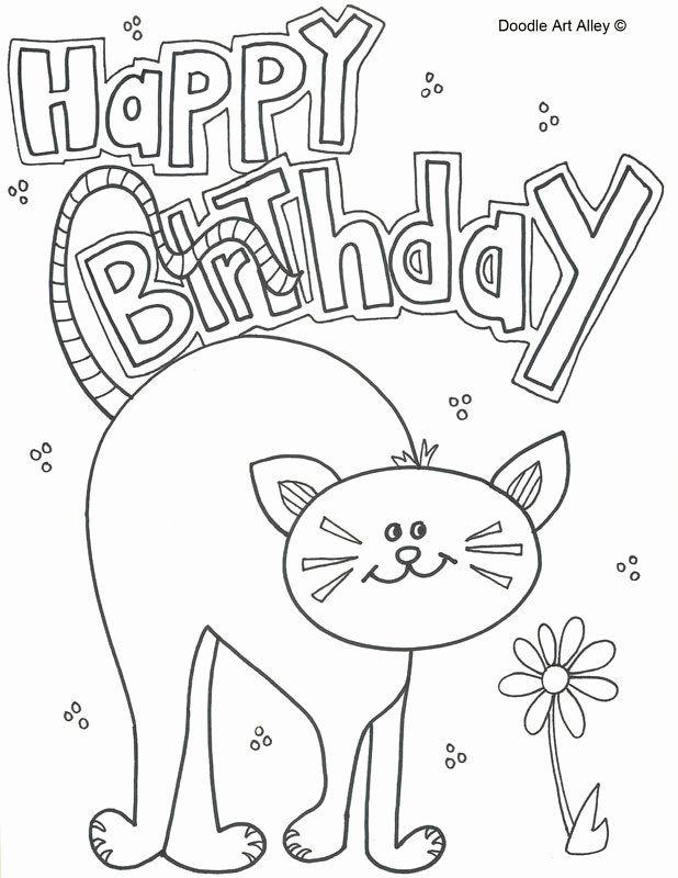 Happy Birthday Coloring Page Elegant Pet Birthday Coloring ...
