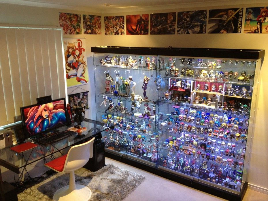 A slightly more hardcore otakus room with a fully