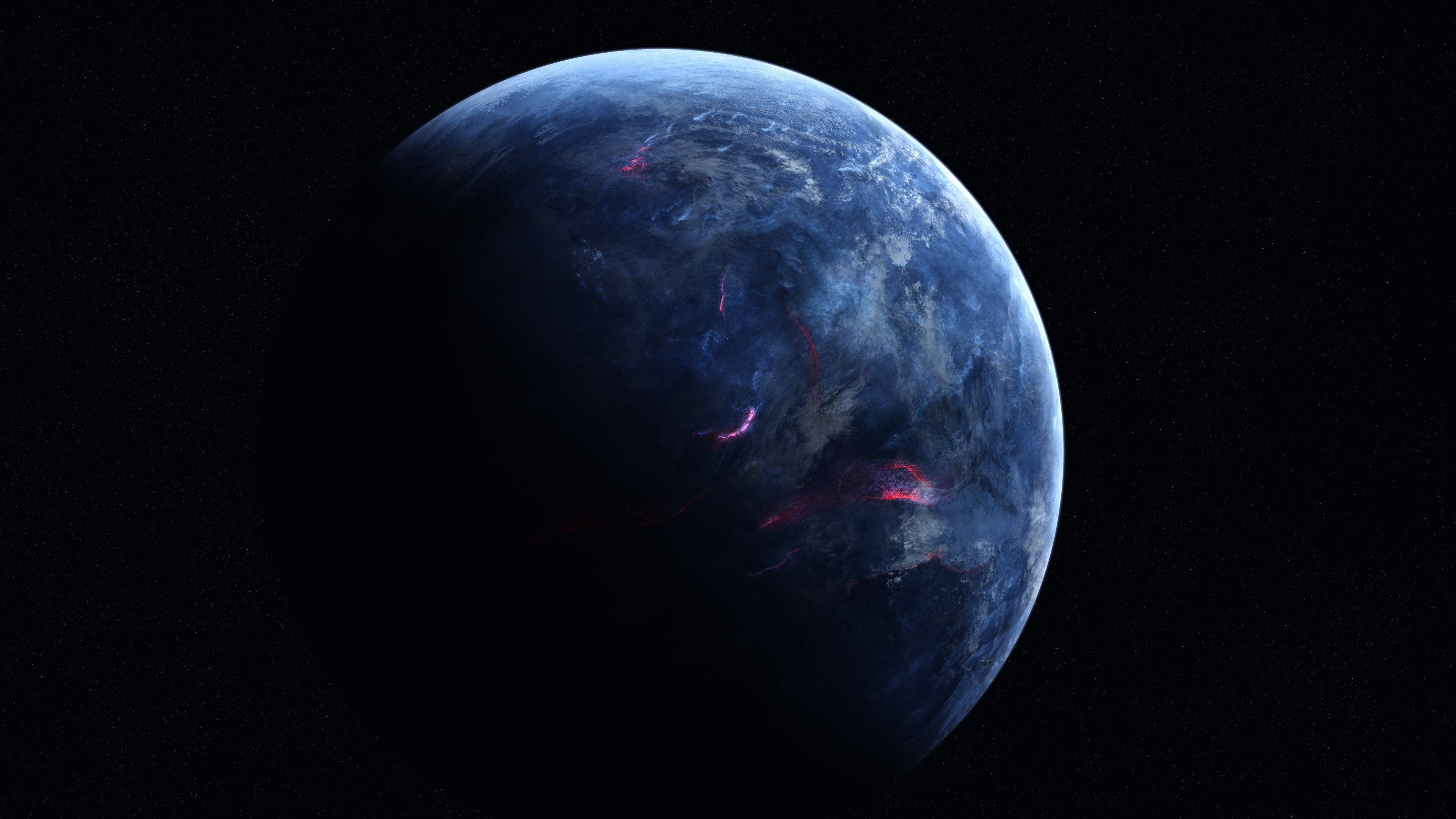 3840x2160 Blue Planet 4k Hd Wallpaper Computer Desktop Hd Wallpaper Planets Earth From Space