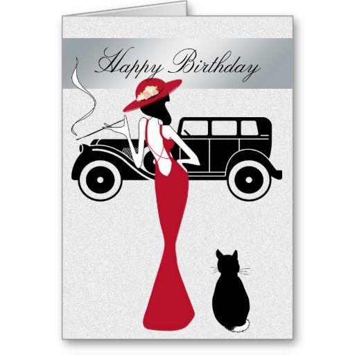Happy Birthday Diva Card Elegant Woman Irene S Emporium Happy