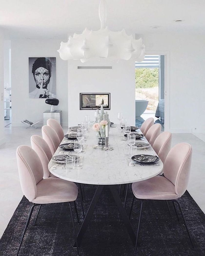 31++ Pink dining chairs and table Inspiration