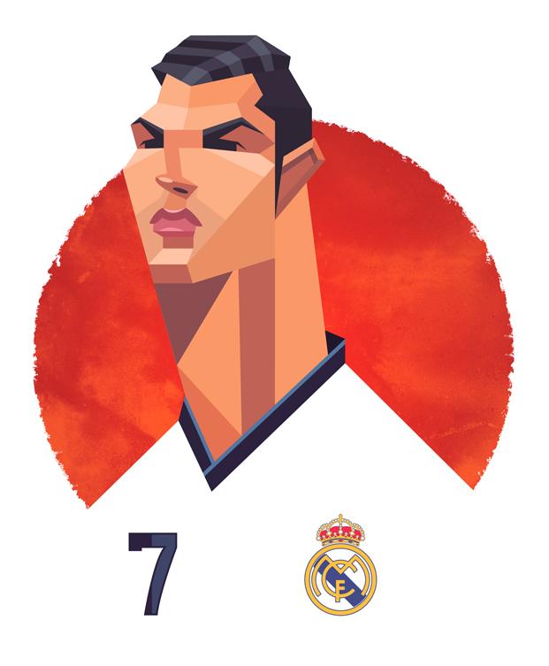 Cristiano Ronaldo of Real Madrid and Portugal.
