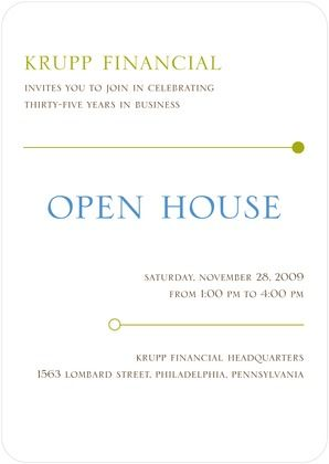 Open House Announcements Clean Lines - Front : Raspberry