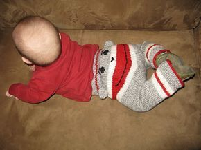 free pattern for sock monkey ears only on ravelry for pants...pattern for pants can be made with monster pants pattern...other wise pattern shown on pants is purchasable.