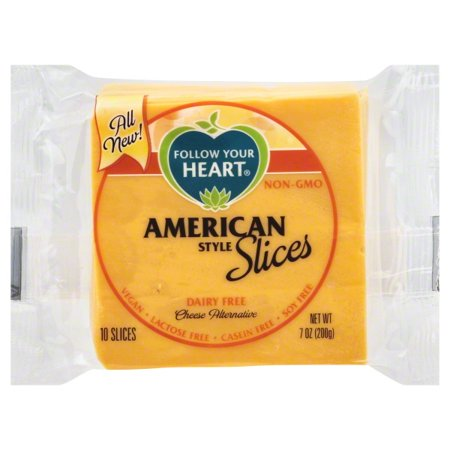 Follow Your Heart American Cheese Slices 7 Oz 10 Count Walmart Com In 2020 Cheese Alternatives Dairy Free Vegan Cheese