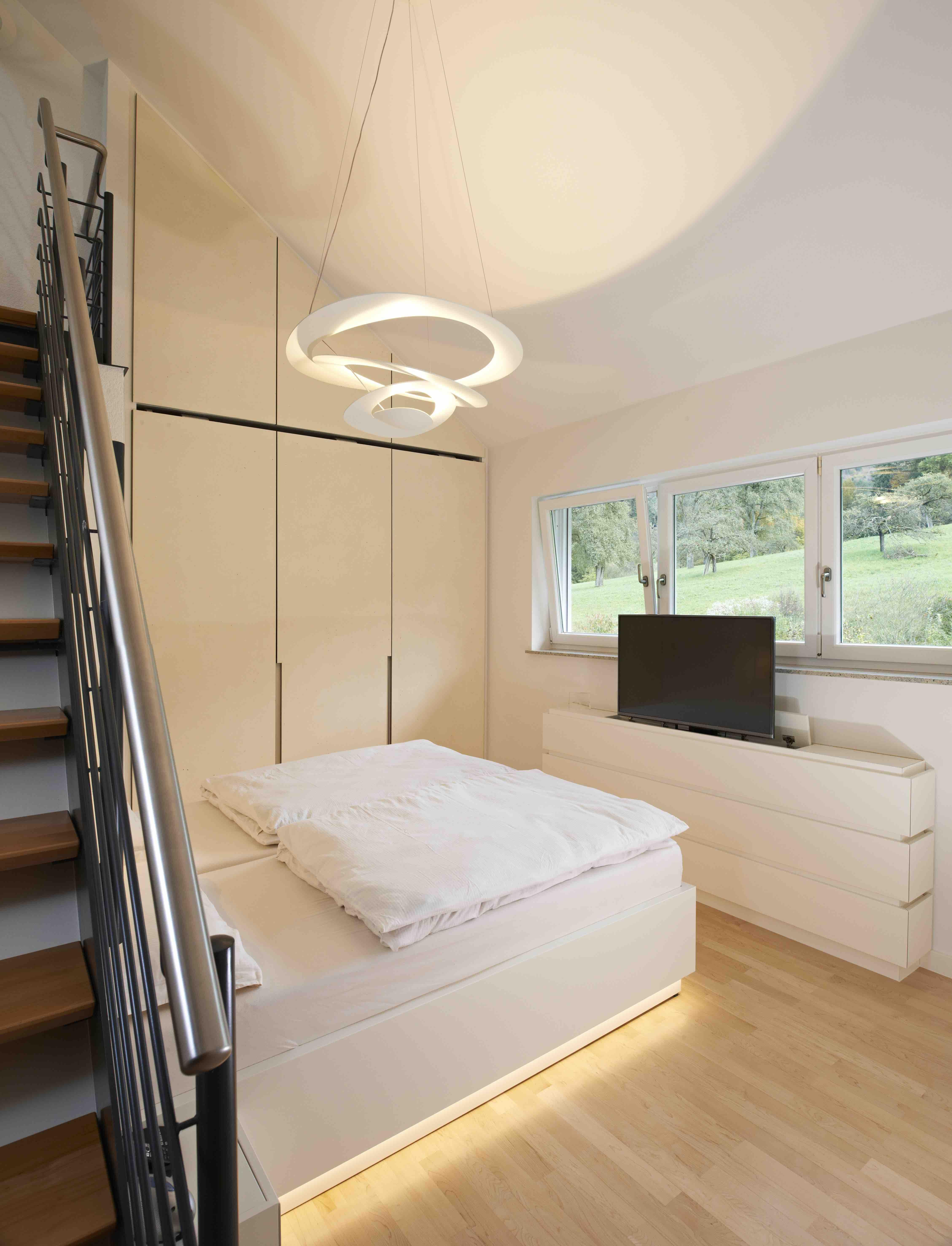 Schlafzimmer 5 Zimmer Beleuchtung Dachschrage Dachboden