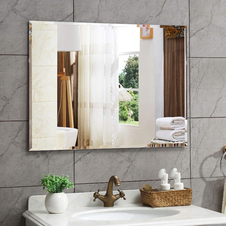 Amazon Com Hans Alice Beveled Bathroom Mirrors Wall Mounted